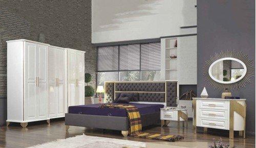 Bambu Yatak Odası Takımı - Beyaz