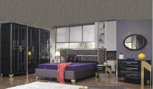 Bambu Yatak Odası Takımı - Siyah