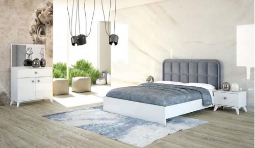 Lotus Yatak Odası Takımı - Beyaz