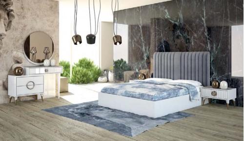 Rüya Beyaz Yatak Odası Takımı